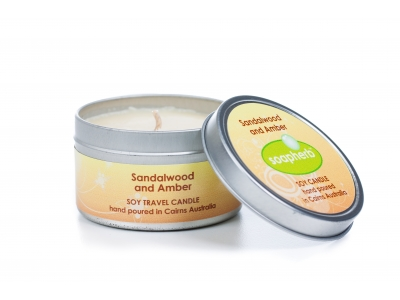 Eco-friendly Soy Wax Travel Tins: 125ml / 6oz